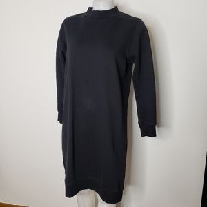 Dr Denim black mock neck sweatshirt dress